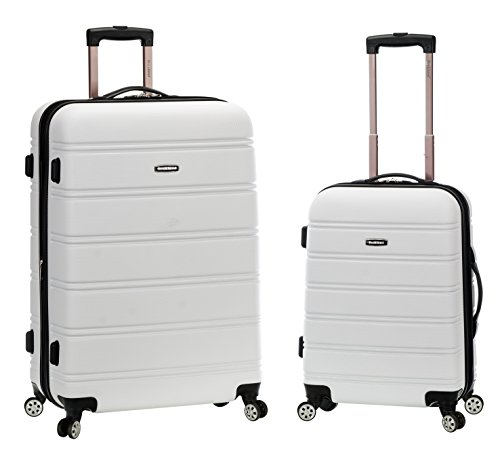 Rockland 20 Inch 28 Inch 2PC Expandable ABS Spinner Set, White, One Size