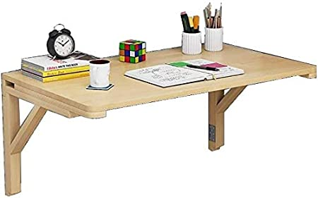 Homranger Mobile Computer Desk Square Folding Table Wall Mounted Table Fold Down Folding Wooden Table Stable Sturdy Construction Drop Leaf Tables For Small Spaces Size 4070cm Amazon Co Uk Kitchen Home