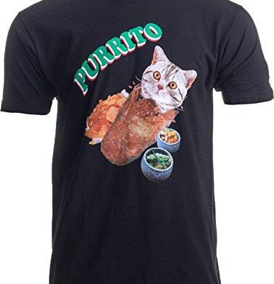 Purrito   Cat in a Burrito Funny Mexican Food Kitty Salsa Guac...