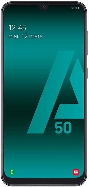 SAMSUNG Galaxy A50 - Smartphone Portable débloqué 4G (Ecran: 6,4 Pouces - 128 Go - Double Nano-SIM - Android) - Noir - Version Européenne