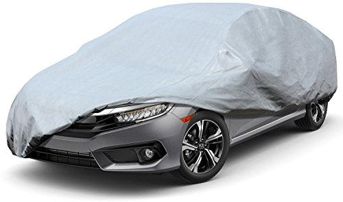 Leader Accessories Premium Car Cover 100% Waterproof Car's Length up to 228'' Breathable Outdoor Indoor Car Cover All Weather Protection