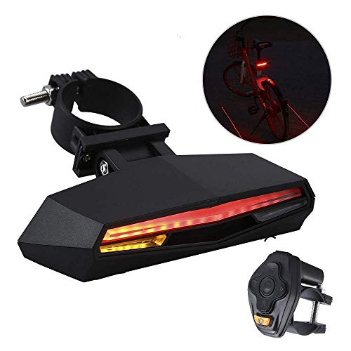 BOBLOV Bike Tail Light, Waterproof Bicycle Turn Signal LED Easy Installation Remote Control Cycling Safety Warning Flashing USB Rechargeable Rear Lamp