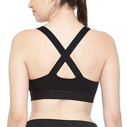 Enamor SB21 Low Impact Cotton Sports Bra - Non-Padded • Wirefree - Black