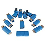 USB 3.0 Adapter Couplers Toolkit Type A to B or MicroB or Mini and Male to Female Adapters