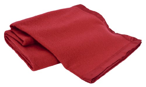 Creswick All-Natural 100-Percent Australian Merino Wool Machine Washable Oversized Blanket, King, Red