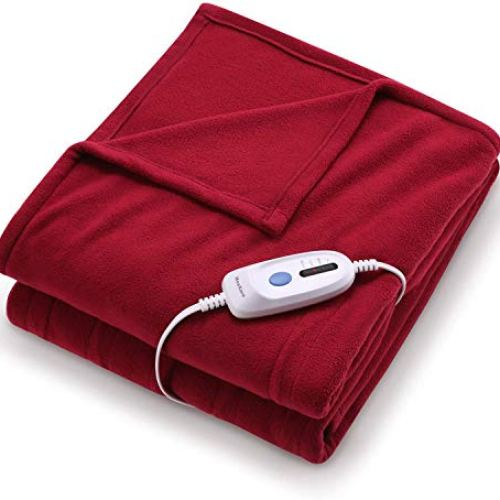 """Electric Heated Blanket Twin Size 62"""" x 84"""" Super Cozy Soft Fleece Fast Heating & ETL Certification with 10 Hours Auto…"""