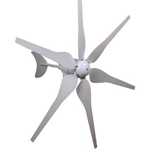 Mophorn Wind Generator 300W DC 12V Wind Turbine High Efficiency Wind Turbine Generator Kit 6 Blades Wind Energy 3 Phase Hyacinth