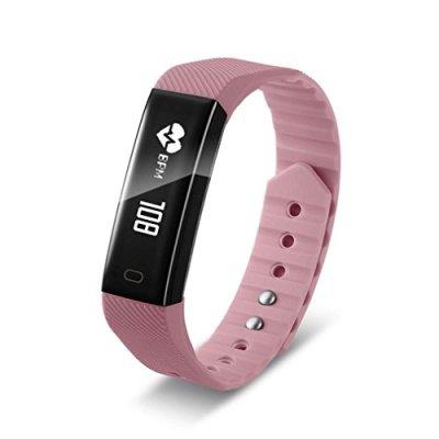 samLIKE 丨 Smart Watch 丨 frequenza cardiaca ✚ sonno qualità REKORD 丨 consumo di calorie 丨 chiamata promemoria 丨 Musica Giocare 丨 240mm x 25mm 丨 【 Design Per Sport tua passione ⭐ ️ 】, ❤️ Rosa