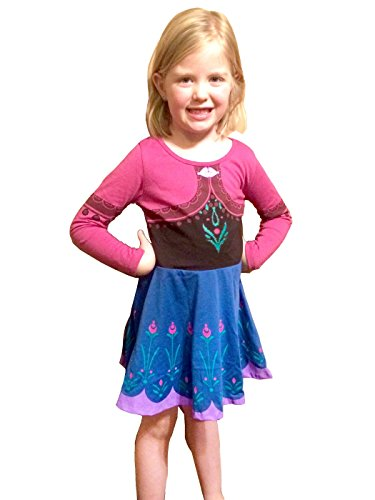 Frozen I Am Anna Girls Long Sleeve Dress