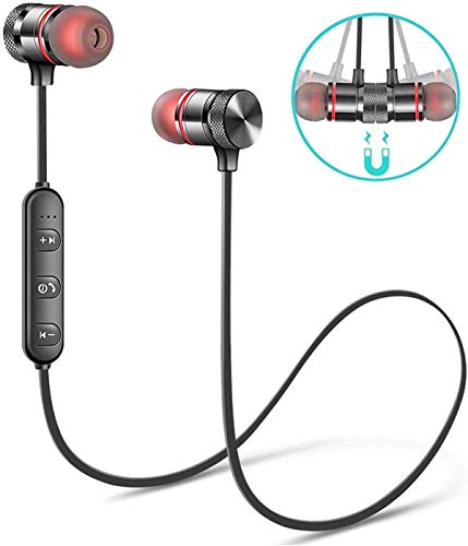 SBA999 A003 Wireless Bluetooth Headphones/Headset with Mic and Volume Button Earphone for Mi Note 5 Pro/TS Mi Note 5 Pro/mi 6 Pro/mi 6A/ mi Y2/ Mi A2 (Black) 8