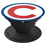 Chicago Baseball C Fly The W Red & Blue Collection - PopSockets Grip and Stand for Phones and Tablets