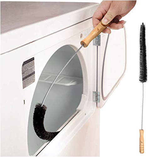 Clothes Dryer Lint Vent Trap Cleaner Brush Gas Electric Fire Prevention Exhaust - Made of Stainless Steel (Pack of 1)