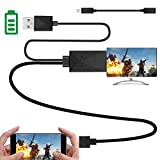 Kingm mhl to hdmi Adapter for Android Devices Micro USB to HDMI Adapter Converter Cable 1080P HDTV for Samsung Galaxy S2 S3 S4 Note 2 3 4 Galaxy Tab 3 8.0, Tab 3 10.1 Android Devices (5Pin + 11Pin)