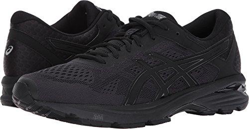 ASICS Mens GT-1000 6 Running Shoe, Black/Silver, 10.5 Medium US