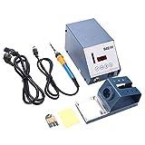Soldering Iron Station, Digital Display Anti-Static Adjustable Temperature Electric Soldering Station US Plug 110V