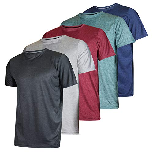 5 Pack: Men's Dry-Fit Moisture Wicking Active Athletic Performance Crew T-Shirt 1 Fashion Online Shop 🆓 Gifts for her Gifts for him womens full figure