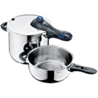 WMF Perfect Plus 6.5 Qt and 3 Qt Pressure Cookers set with Interchangeable Locking Lid