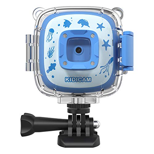 Dragon Touch Kidicam 1080P Kids Action Camera 30m Waterproof Camera