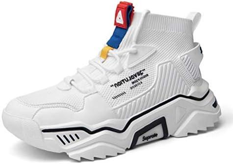 SANNAX Mens Fashion Sneakers High Top Casual Shoes