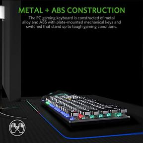 FIODIO-Mechanical-Gaming-Keyboard-LED-Rainbow-Gaming-Backlit-104-Anti-ghosting-Keys-Quick-Response-Black-Switches-Multimedia-Control-for-PC-and-Desktop-Computer-with-Removable-Hand-Rest
