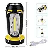 Jingrong Rechargeable Lantern,Camping Lantern,Portable Collapsible Clover Style Tent LED Lantern Lighting Lights Flashlights by USB Charging for Phone Charging,Emergency,Hurricane,Fishing and More