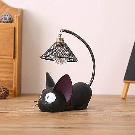 Lampada Da Tavolo Portatile Senza Fili Mini Simpatico Gatto Nero Notte Luce Illuminazione Per Bambini Lampade Da Scrivania Per La Cameretta B