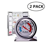 JSDOIN Freezer Refrigerator Refrigerator Thermometers Large Dial Thermometer 2 Pack