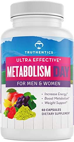 TRUTHENTICS Metabolism & Energy Boost - Natural Aid for Slow Metabolism - Supports Energy, Weight Loss, Blood Sugar Balance Supplement for Women & Men - Use Fat for Energy - Manage Cravings - 60 caps 1