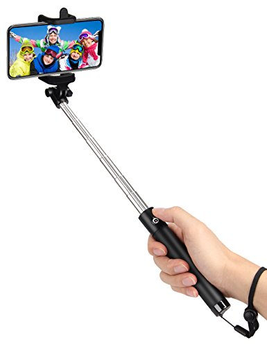 kungfuren Selfie Stick Bluetooth, Professional 50-Hour Long Battery Life and Japanese Seiko PCB Protection, Built-in Remote Camera Shutter for Selfie Stick iPhone 7 Plus All iOS and Android Smart Phon