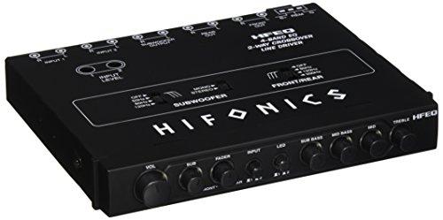 Hifonics HFEQ 4-Band EQ/2-Way Crossover Line Driver