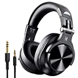 OneOdio Fusion Bluetooth Over Ear Headphones, Studio DJ Headphones with Share-Port, Wired and Wireless Professional Monitor Recording Headphones with Stereo Sound for Electric Drum Piano Guitar AMP