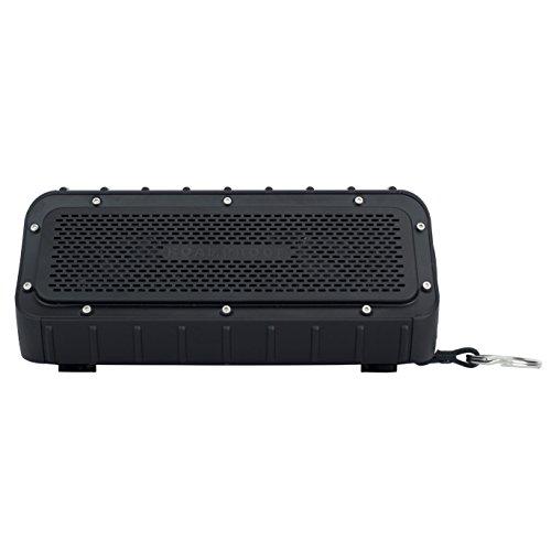 MacroBoom - Waterproof Camping Bluetooth Speakers, IPX7, Longest Battery Life, Full Range Stereo Pairing Bluetooth Speakers, by RoamProof
