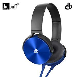 Digibuff Extra bass Headphones Over The Ear Headset with Deep bass (Blue)