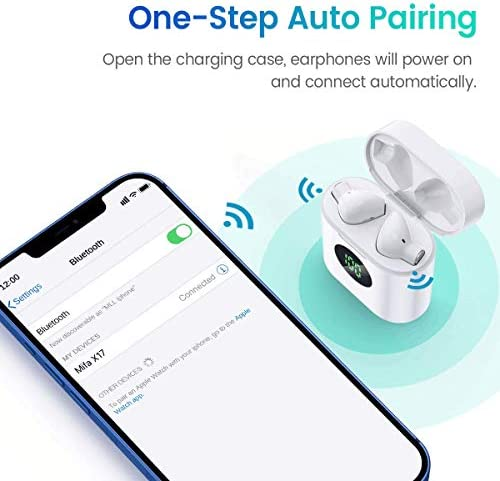 MIFA True Wireless Earbuds, TWS Bluetooth Headphones Stereo Sound Earphones, 30H Playtime Wireless Charging Case & Power Display, Sweat Proof Dual Bluetooth 5.0 Headset with Built-in Mic for Sports 16