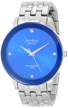 Armitron Men's 20/4952BLSV Stainless Steel Diamond-Accented Watch