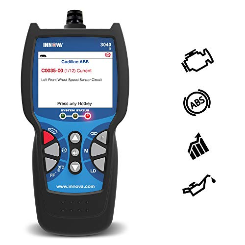 Innova 3040d Diagnostic Code Reader/Scan Tool with ABS and Live Data for OBD2 Vehicles