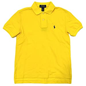 Polo Ralph Lauren Boys Classic Mesh Polo Shirt (Small / 8, Sunfish Yellow)