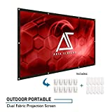 AKIA SCREENS 120 inch Indoor Outdoor Collapsible Portable Projector Screen 16:9 Anti-Crease Foldable Dual Front Rear Retractable 8K 4K Ultra HD 3D Ready Movie Theater Home Theater AK-DIYOUTDOOR120H1