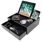 Mens Valet Edc Tray for Men - Night Stand Organizer Men as Catchall Tray for Men and Dresser Valet Charging Station - Great Gift