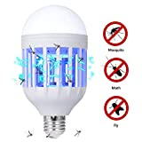 GLOUE Bug Zapper Light Bulb, 2 in 1 Mosquito Killer Lamp Uv Led Electronic Insect & Fly Killer for Indoor and Outdoor,E26 or E27