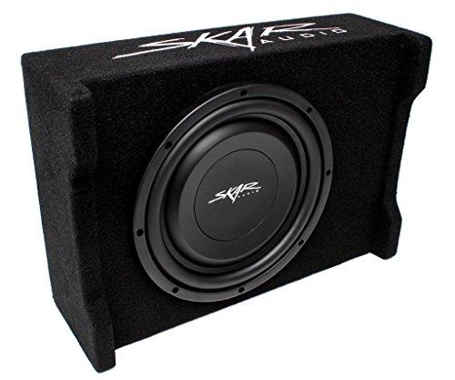 """2. Skar Audio EV – 10MB S4 10"""" Single 4 – Ohm 400W Shallow Mount Loaded Subwoofer Enclosure"""
