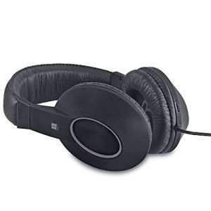iBall EarWear Rock, Pitch Perfect Sound, Over-Ear Wired Headphones with Mic, Black & Grey