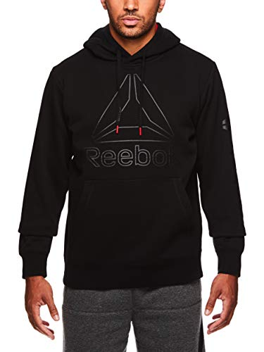 Reebok Men's Performance Pullover Hoodie - Graphic Hooded Activewear Sweatshirt 1 Fashion Online Shop Gifts for her Gifts for him womens full figure