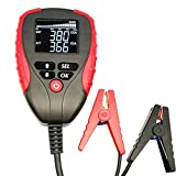 eOUTIL 12V Car Battery Tester, Digital Auto Battery Analyzer with LCD Display - Test Battery Life Percentage, Voltage, Resistance and CCA Value for Car/Boat/Motorcycle