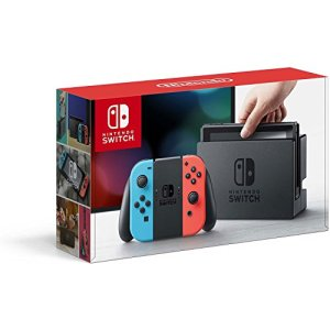 Nintendo Switch - Neon Red and Neon Blue Joy-Con -HAC 001