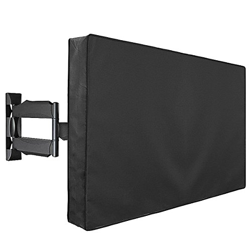 "Outdoor TV Cover, Weatherproof Universal Protector for 55"" - 58"" LCD, LED, Plasma Television Screens. Dust-Proof with Bottom Seal and Soft Liner - Compatible with Standard Mounts and Stands"