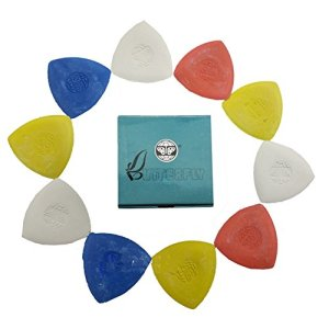 10 Pieces Pack Triangle Tailor's Chalk Sewing Quilting Notions White/Yellow/RED/Blue