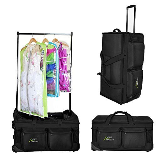 Closet Trolley Dance Bag with Garment Rack - BLACK DANCE DUFFEL