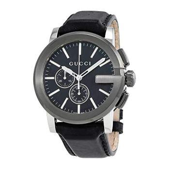Gucci G-Chrono Quartz Movement Black Dial Men's Watch YA101205