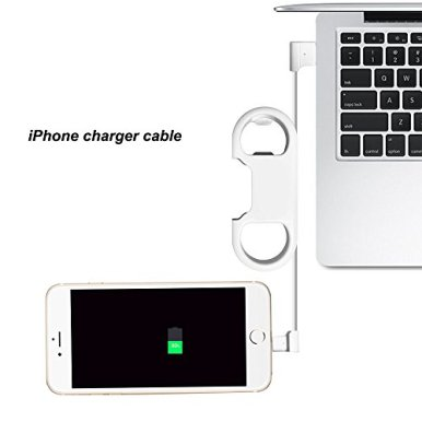 iPhone-Charge-Lightning-Cable-Keychain-Bottle-Opener-Aluminum-CarabinerPortable-Multifunction-Keychain-Bottle-Opener-USB-Charging-Cord-Short-Cable-for-iPhone-X876SGift-for-Men-Women-White
